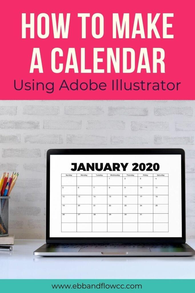 how to make a calendar in Adobe Illustrator