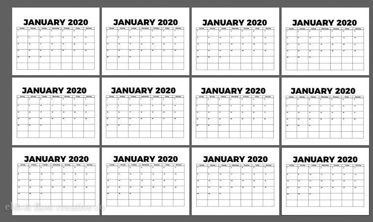 copy and paste calendar onto all 12 artboards