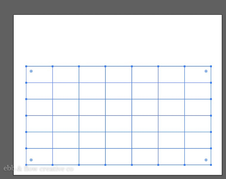 grid for calendar