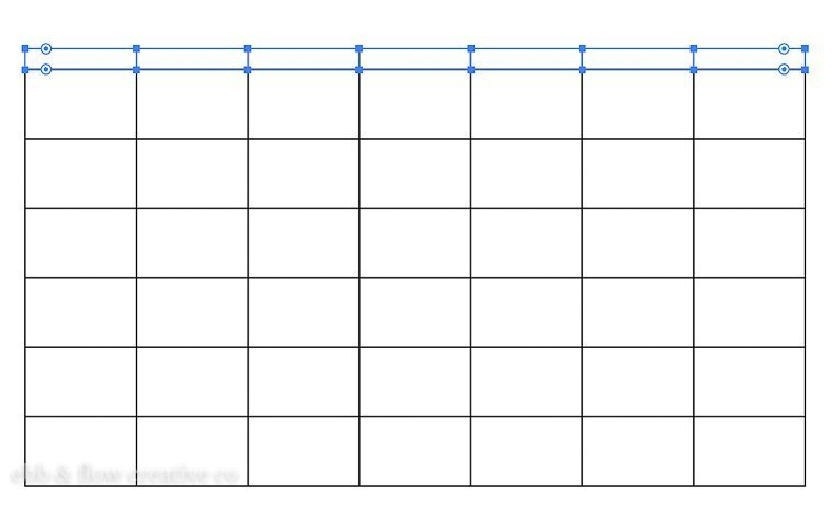 narrow grid for calendar days of the week