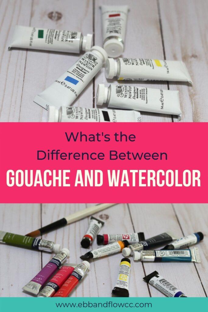 gouache vs watercolor