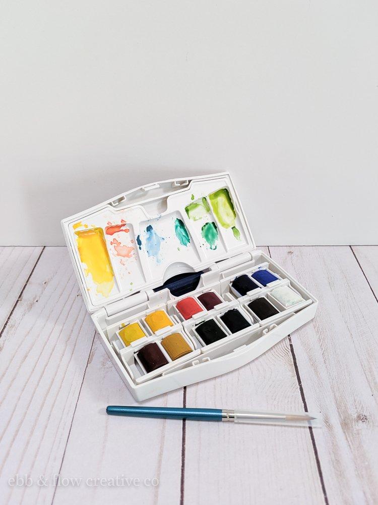 watercolor pan set