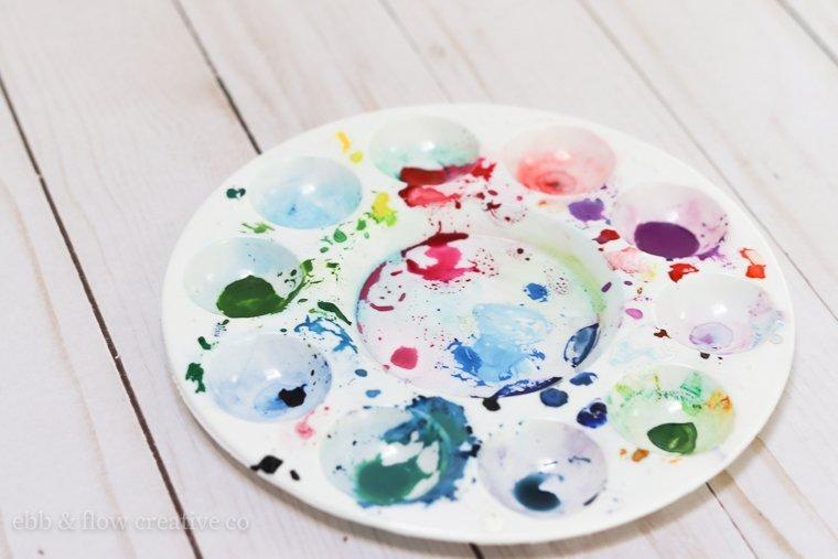 plastic watercolor palette