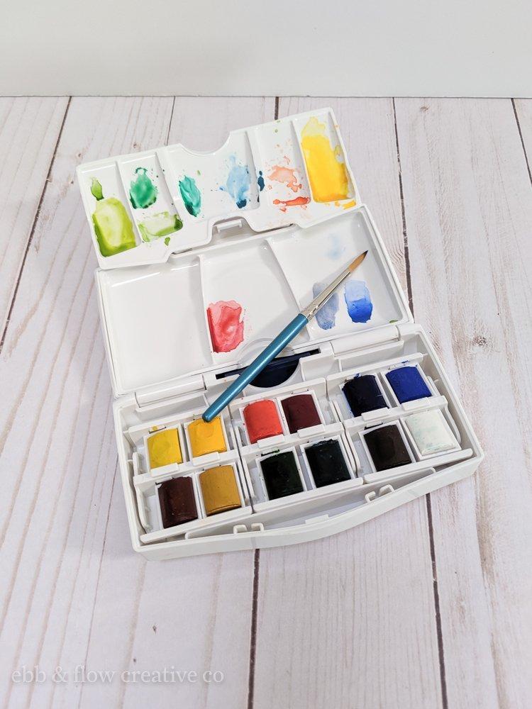 windsor and newton cottman watercolor pan set