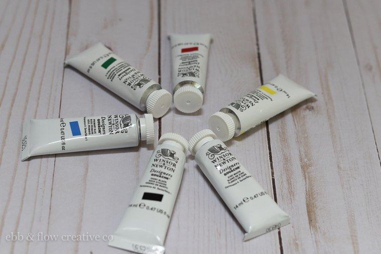 gouache paint tubes
