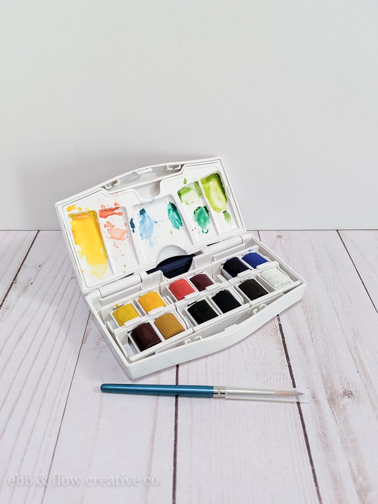 windsor & newton watercolor pan set