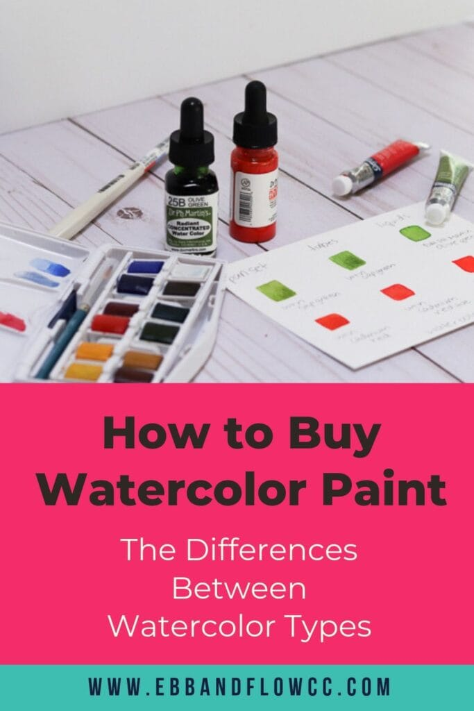 how to buy watercolors