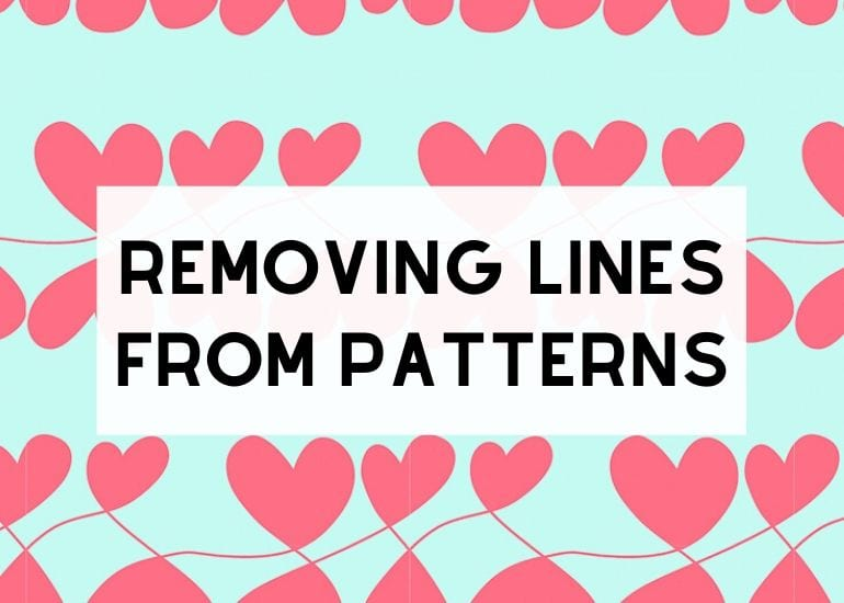 Removing Lines from Patterns