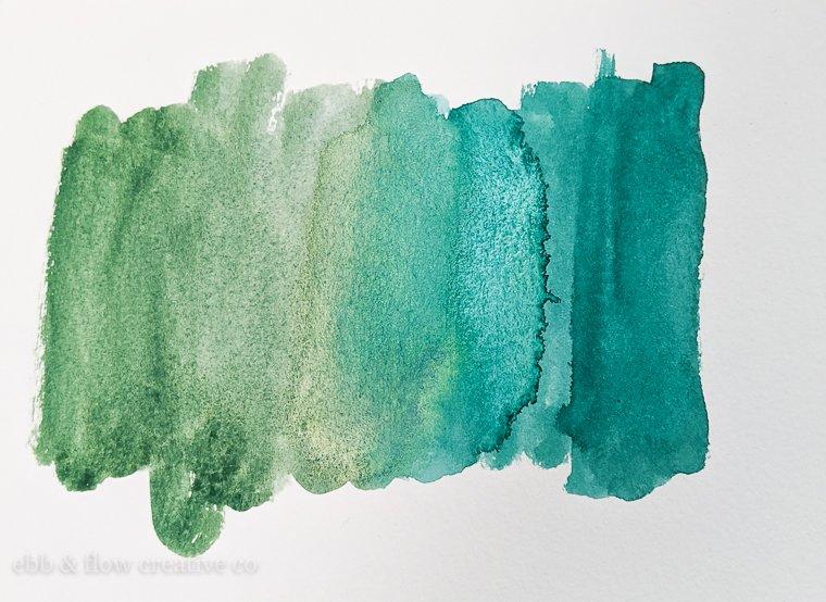 green watercolor gradient