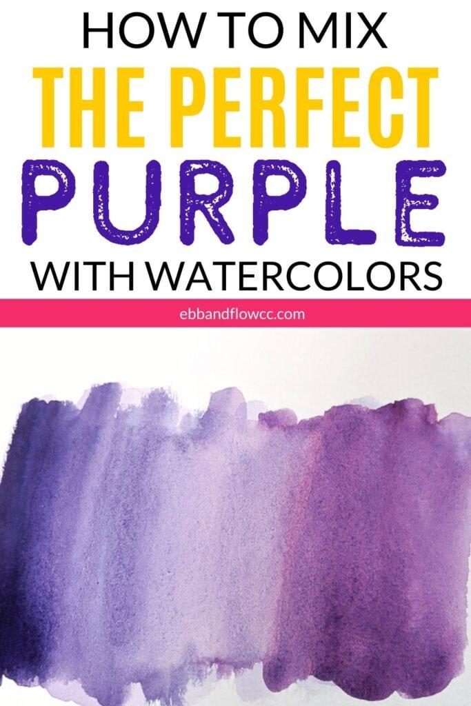 purple watercolor collage