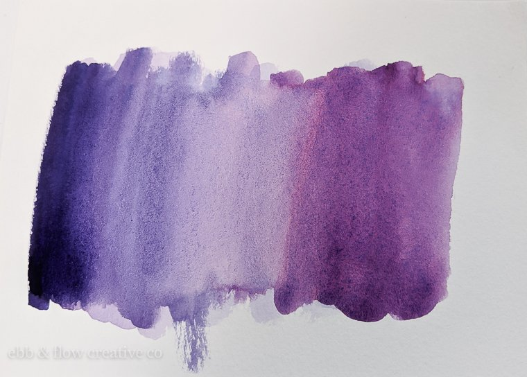 purple watercolor swatch
