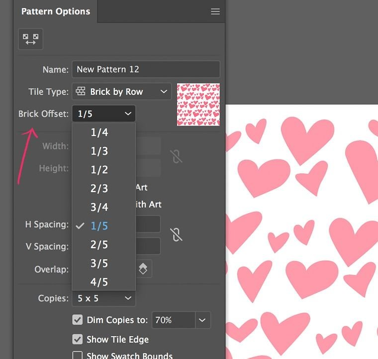 changing offset for seamless pattern