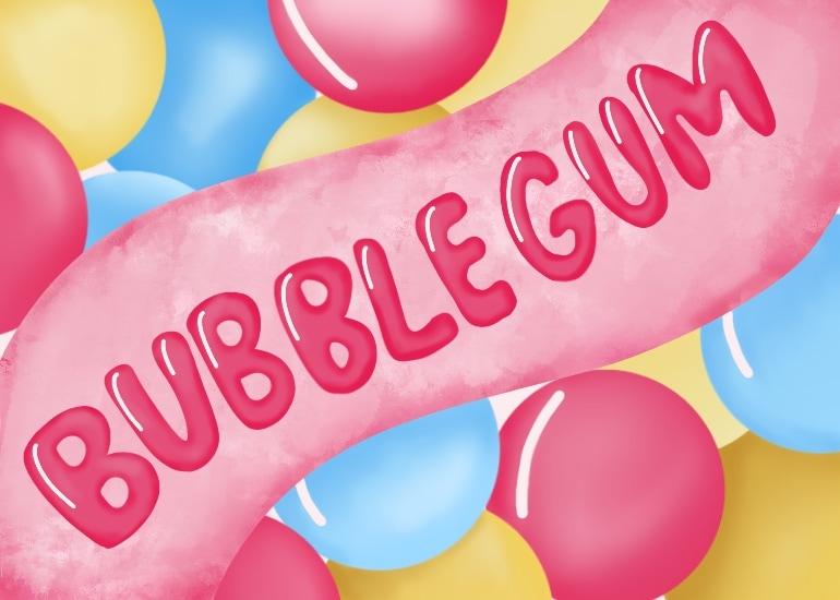 bubble gum illustration
