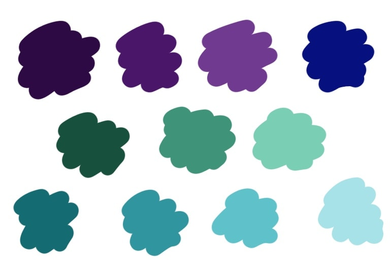 mermaid color swatches for procreate