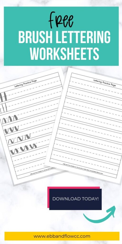 pin image - lettering worksheets