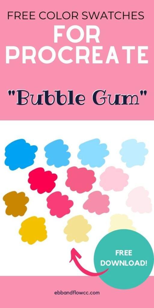 pin image - bubble gum color palette