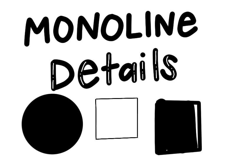 monoline brush uses