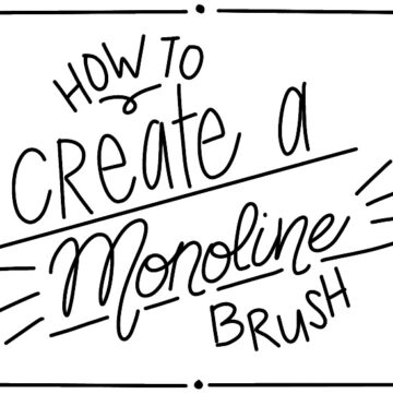 hand lettering using monoline brush