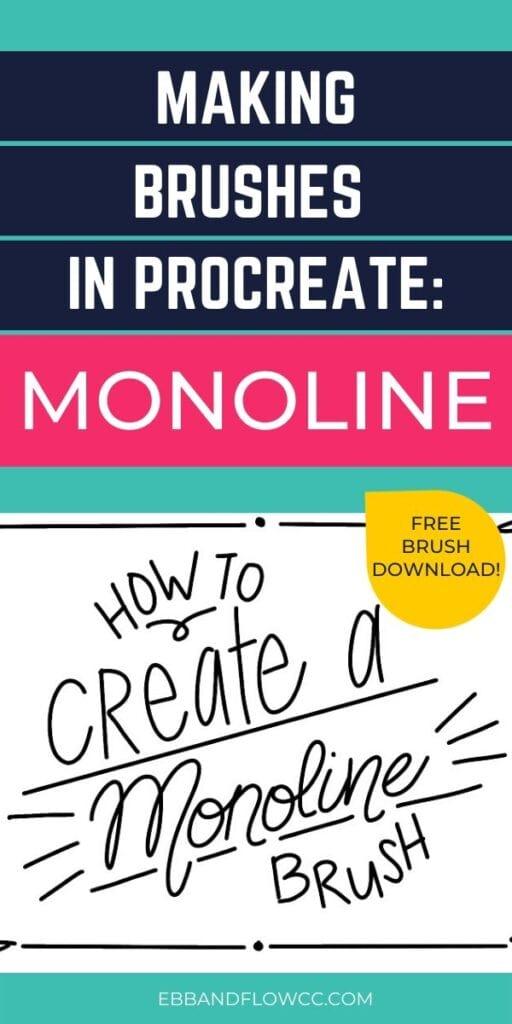pin image: create monoline brush for procreate