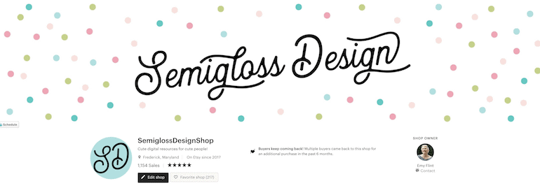 shop banner and profile pic in etsy shop