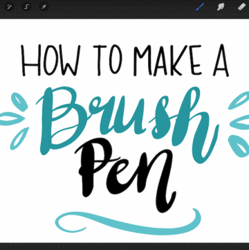 how to make a brush pen screenshot on ipad