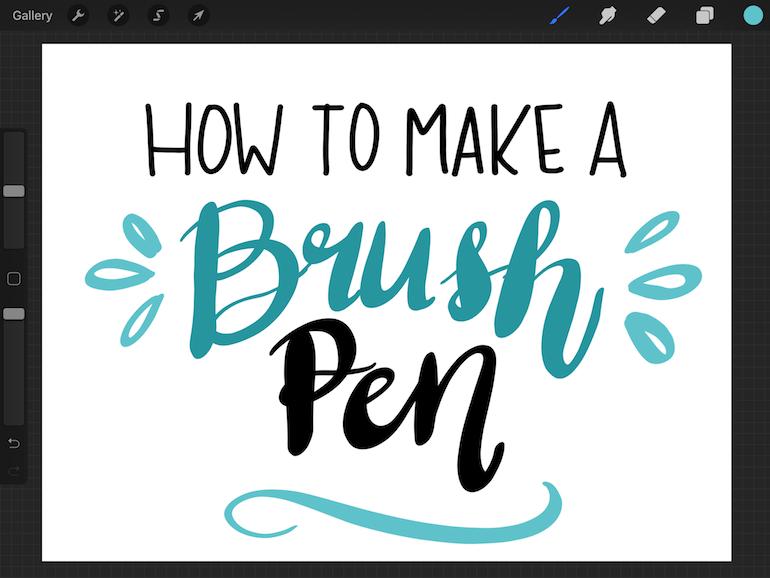 how to make a brush pen screenshot on ipad
