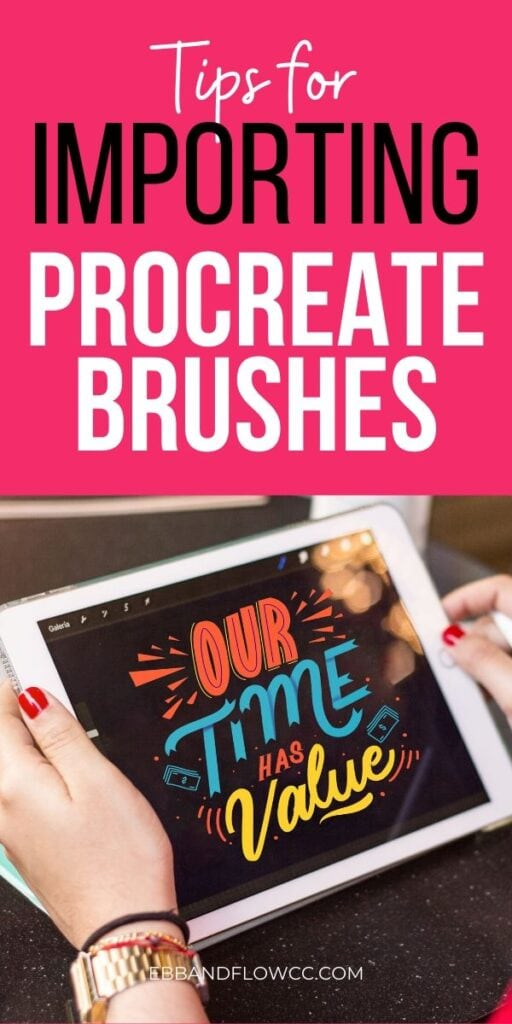 pin image- importing brushes for procreate
