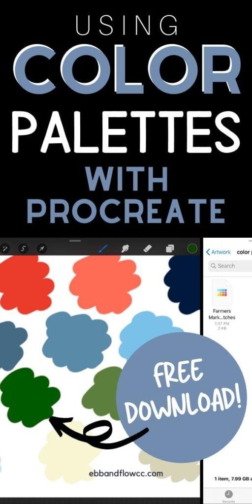 pin image- color palettes procreate