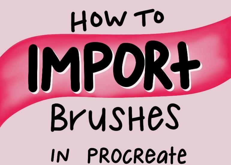 handlettered illustration for importing brushes