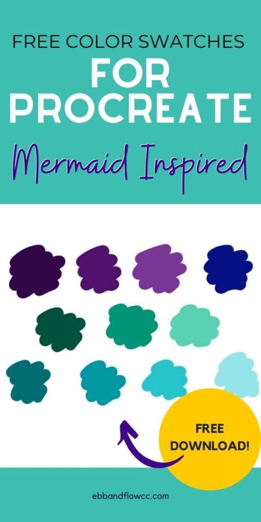 pin image - mermaid color palette for procreate