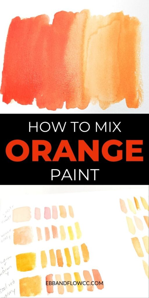 pin image - orange watercolor swatch collage