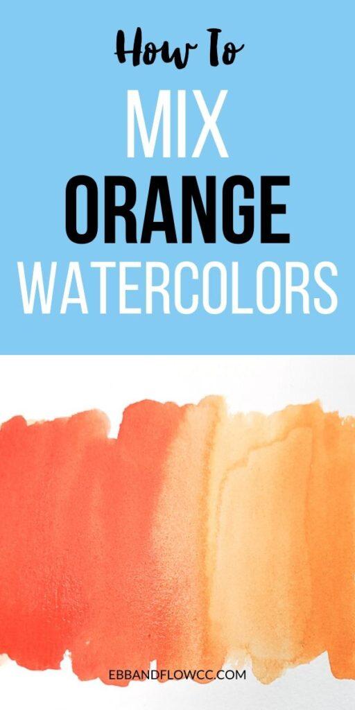 pin image - mix orange watercolors