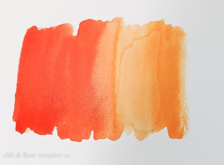 orange watercolor swatch
