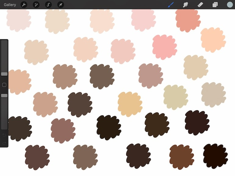 skin colors to use in procreate art