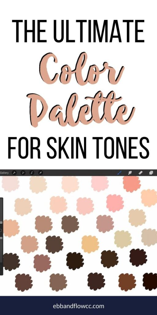 pin image - skin tones collage for pinterest