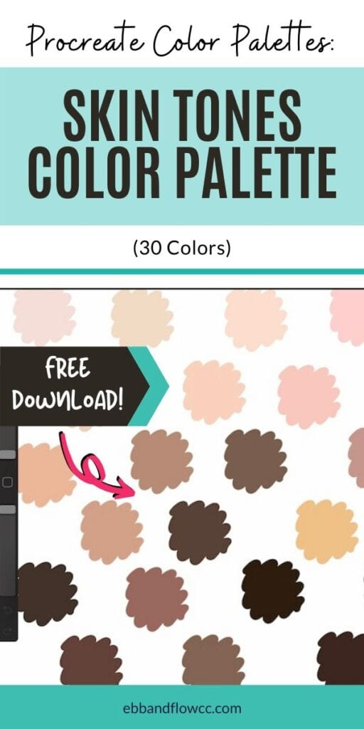 pin image - skin tones palette for procreate collage