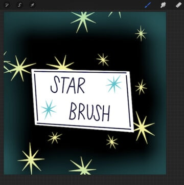 star brush illustration