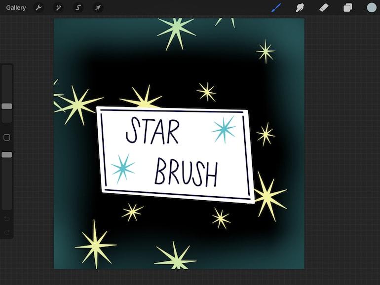 star brush illustration