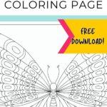 pin image- butterfly coloring page