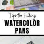 pin image - watercolor pans collage