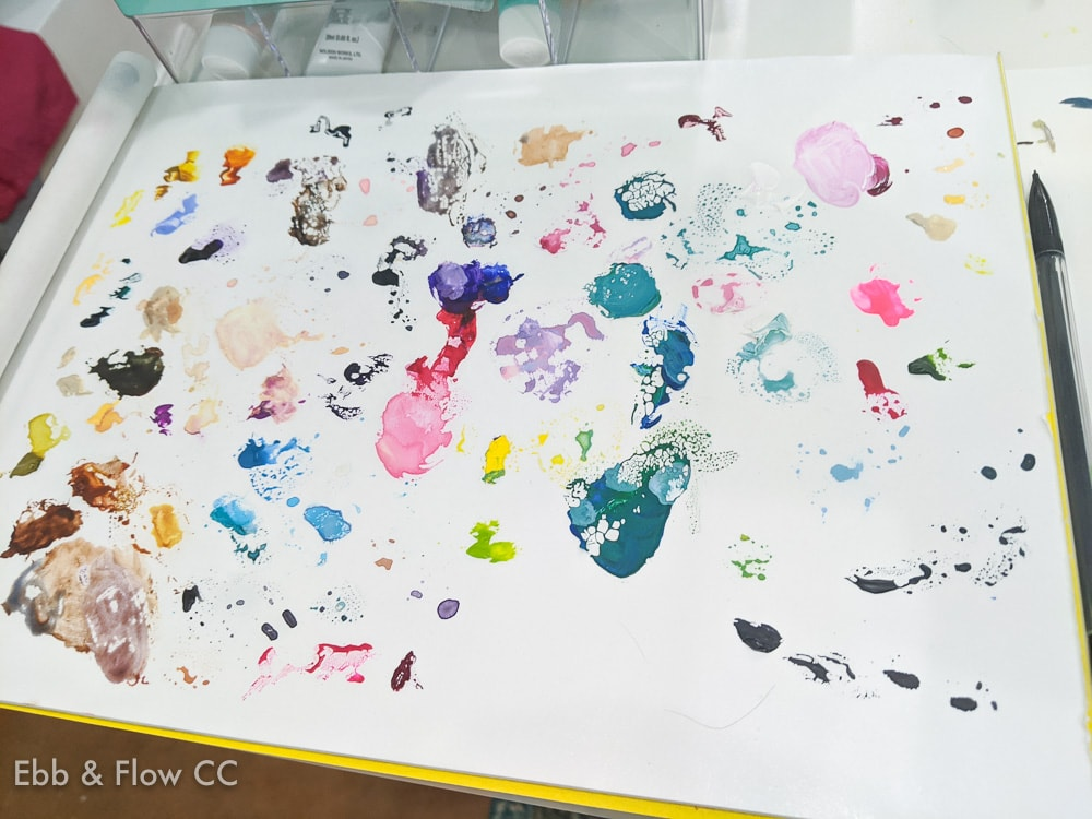 paint on palette sheet