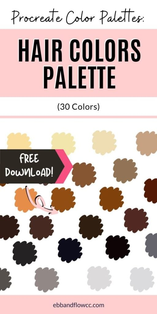 pin image - hair color swatches