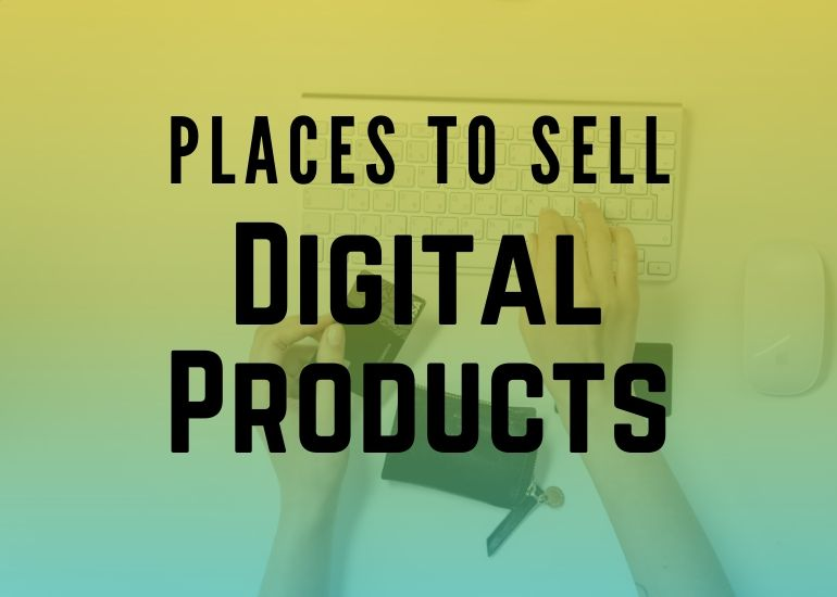 feature image - places to sell digital downloads
