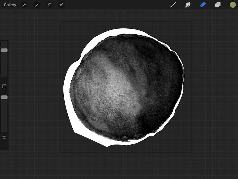 erase shadowy background