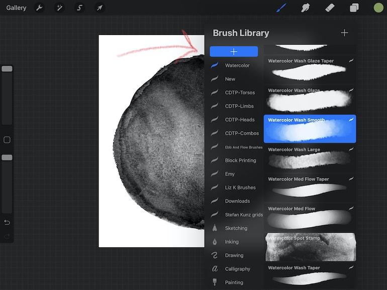 creating new brush folder in procreate