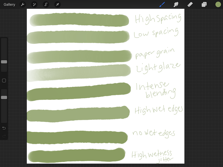 variations for brushes