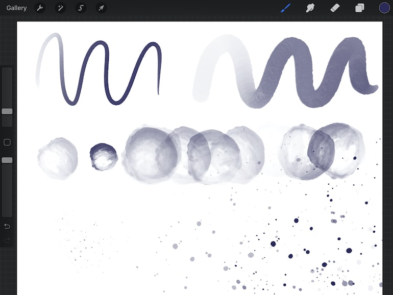 using watercolor brushes on ipad
