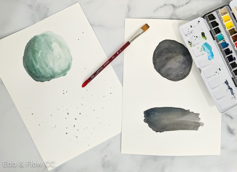 watercolor swashes for making brushes