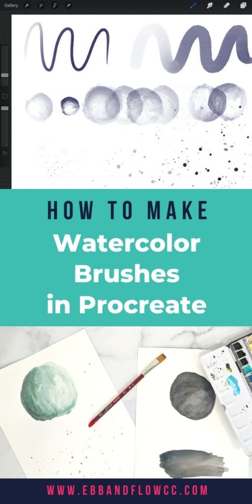pin image - making watercolor brushes for procreate from paintings