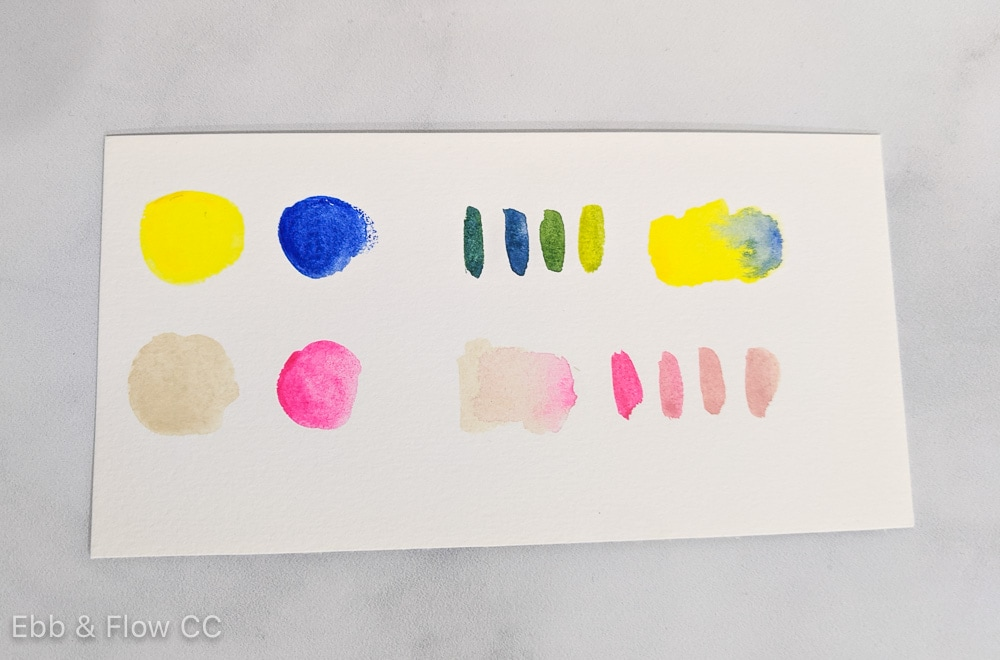 paint swatches for mixing colors with high intensity
